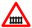 Дорожный знак 1.1 «Железнодорожный переезд со шлагбаумом»