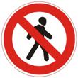 Дорожный знак 3.10 «Движение пешеходов запрещено»