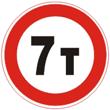 Дорожный знак 3.11 «Ограничение массы»