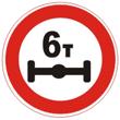 Дорожный знак 3.12 «Ограничение массы, приходящейся на ось транспортного средства»