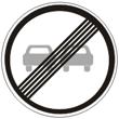 Дорожный знак 3.21 «Конец зоны запрещения обгона»