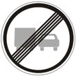 Дорожный знак 3.23 «Конец зоны запрещения обгона грузовым автомобилям»