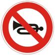 Дорожный знак 3.26 «Подача звукового сигнала запрещена»