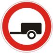 Дорожный знак 3.7 «Движение с прицепом запрещено»